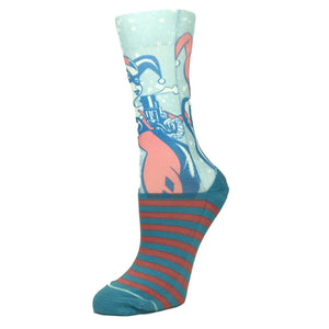 DC Comics Harley Quinn Faded Neon Printed Socks - The Sock Spot