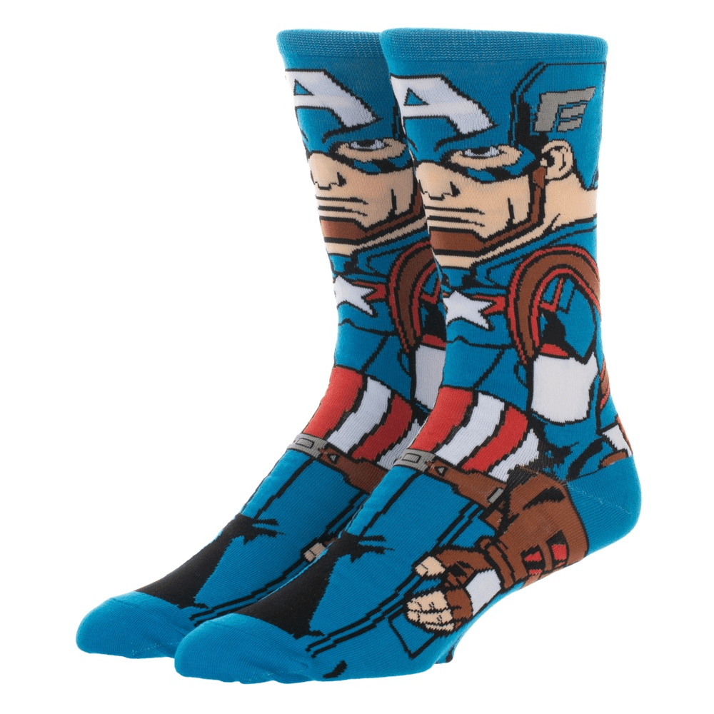 Socks - Marvel Captain America 360 Superhero Socks