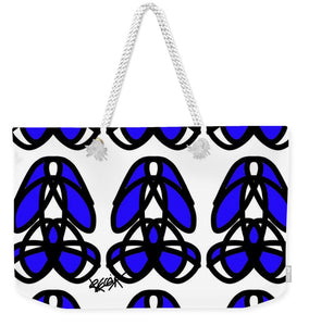 Bold Black And Blue  - Weekender Tote Bag