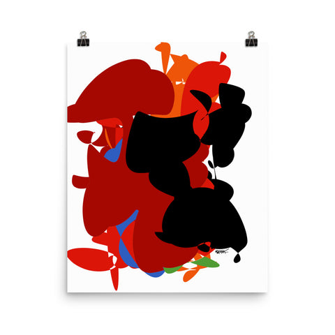 Colorful Abstract Art Vibrant Bold - Poster