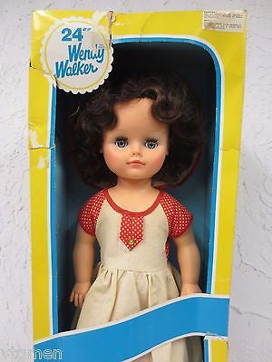 "Vintage Wendy Walker Doll 24"" Tall, Articulated Doll, Original Box, Eyelids"