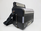 Hohner Panther Button Accordion, GCF Sol Diatonic Accordion, With Straps & Book