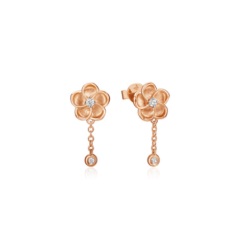 Blossoming collection 18k gold diamond earrings