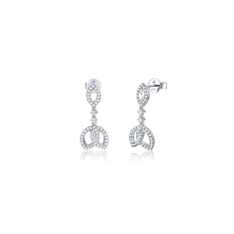 Life collection 18k gold diamond earrings
