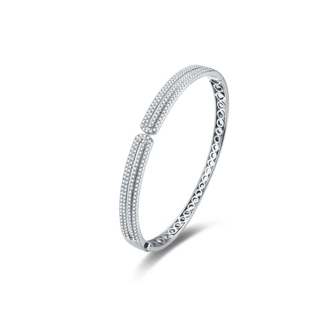Architecture collection 18k gold diamond bangle