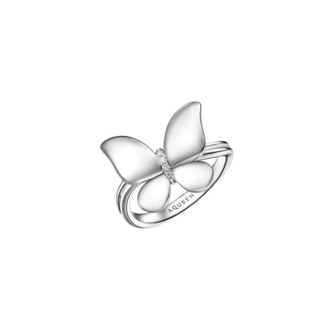 Butterfly collection 18k gold diamond ring