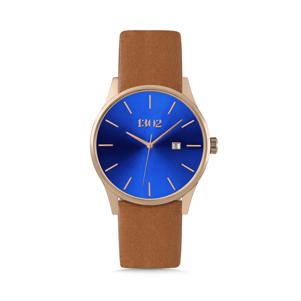 Rose Gold Case / Blue Dial