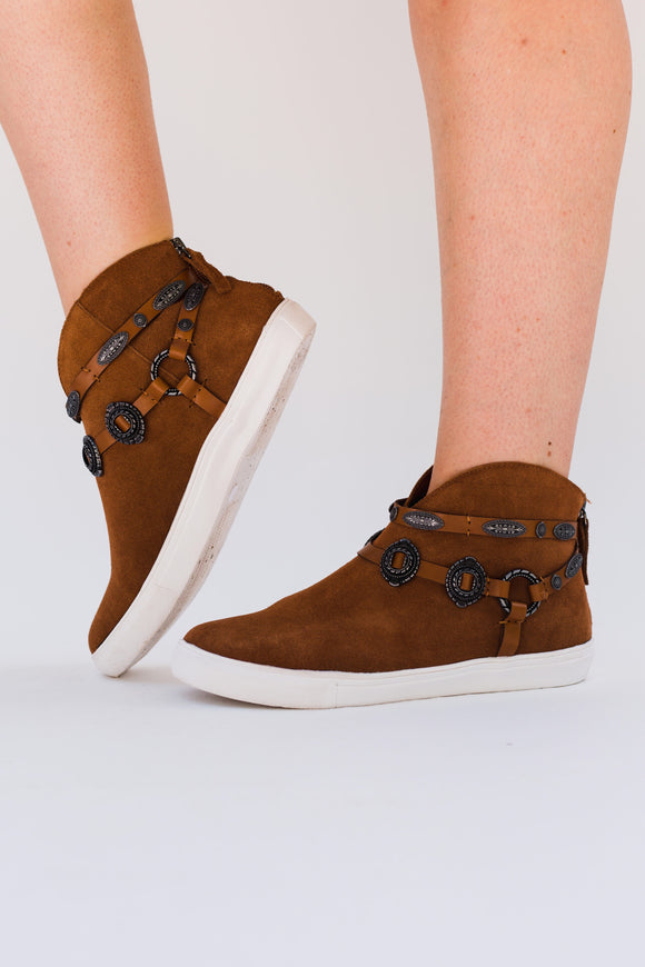 Cooper Concho Sueded High-Top Sneakers