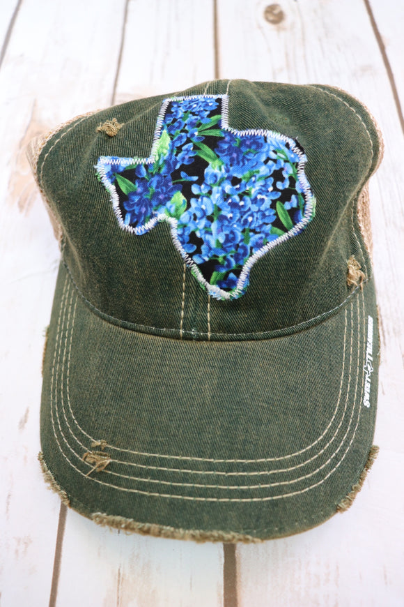 Bluebonnet Dirty Trucker Hat
