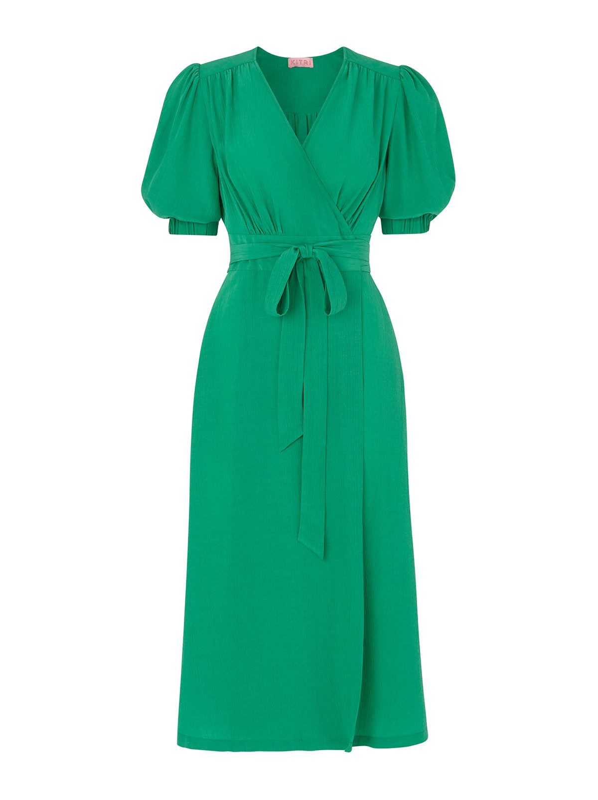 Ayesha Green Wrap Dress