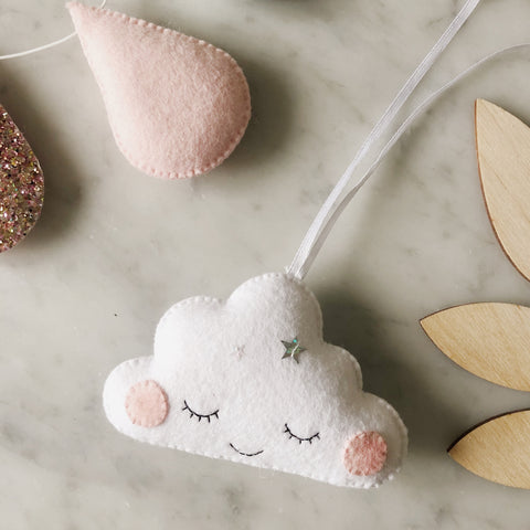 *New* Sleepy Cloud Decoration - Created in your custom colours