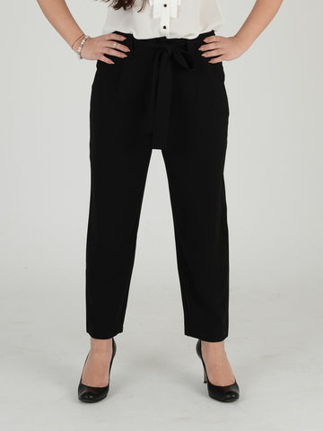 Black Formal Crop Trousers - Capsuleight