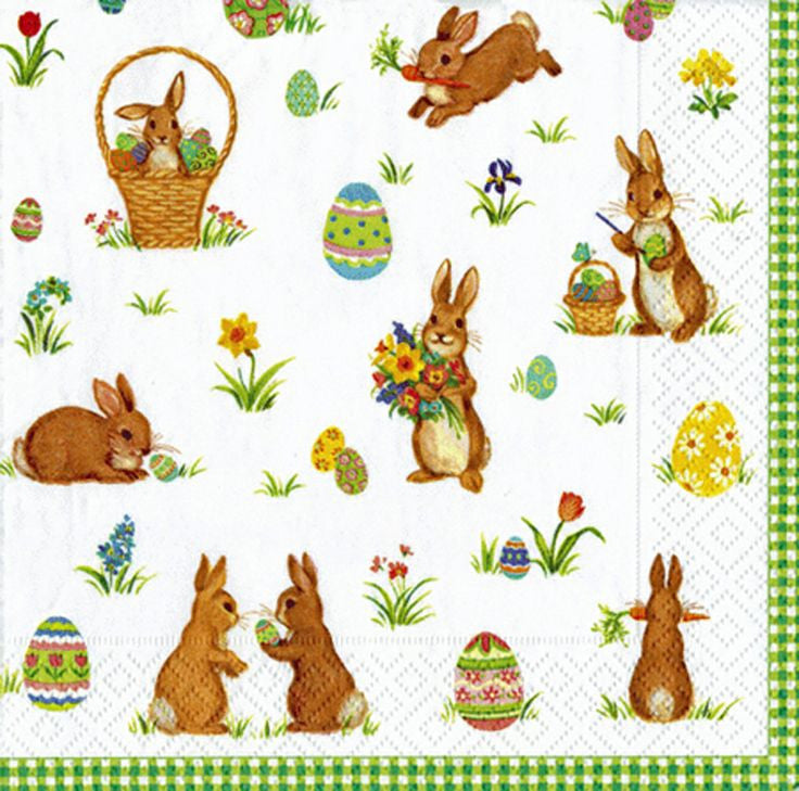 Cottontails Bunny Luncheon Napkins