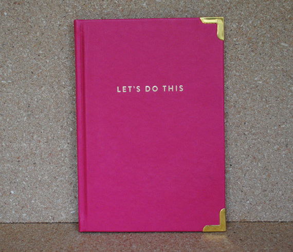 """Let's Do This"" Pink Notebook"