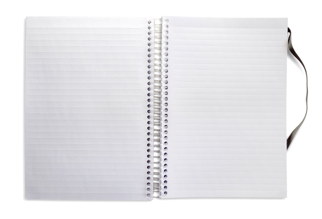 Ghost Paper Spiral Notebook