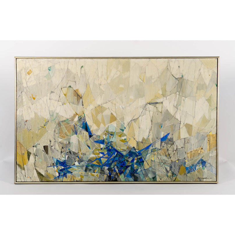 Abstract Expressionist Oil Painting by Gladys Goldstein, Circa 1965