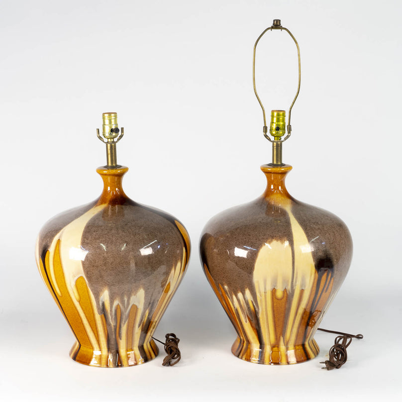 Pair Of Midcentury Ceramic Lamps