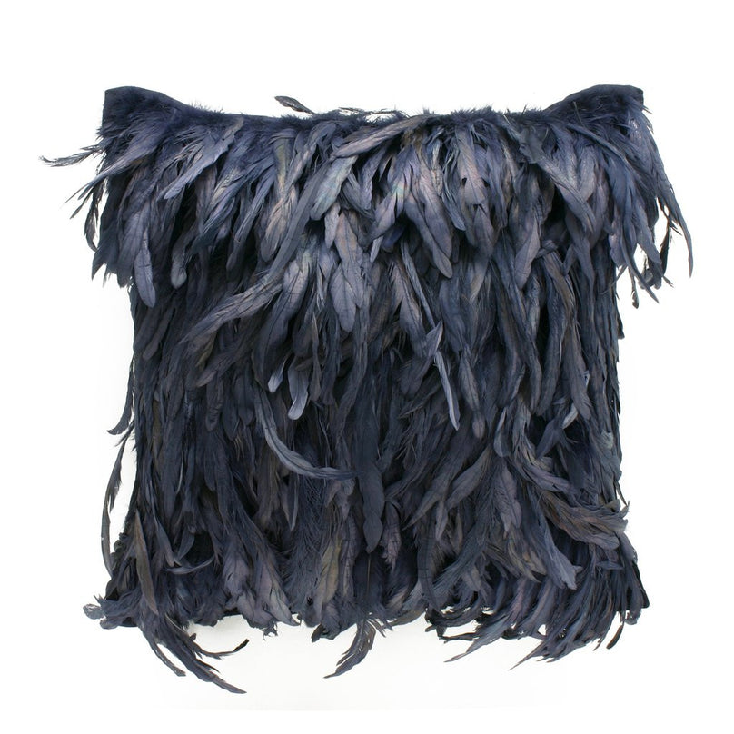 Plumage Pillow, Navy