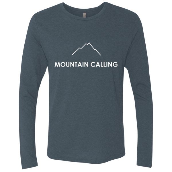Mountain Calling Men's Long Sleeve Travel Hiking T-Shirt - The Art Of Travel Store: Travel Accessories and Travel T-Shirts