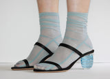 Darner Powder Blue Mesh Socks - Darner Socks
