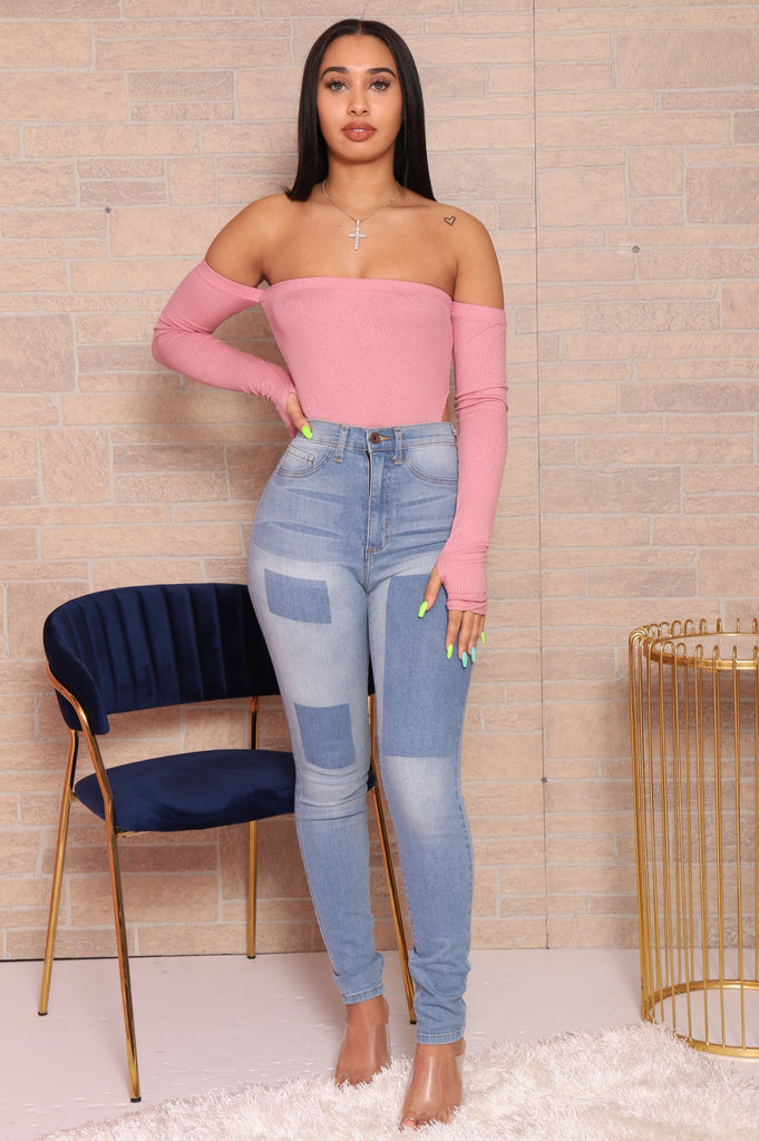 No Excuse Cut Out Bodysuit - Pink - Swank A Posh