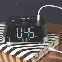 CubieTime Clock with Power Outlets and USB Ports