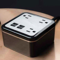 Tabletop Power Cube with 4 Power Outlets and 2 USB Ports