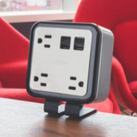 Standing Power Cube with 3 Power Outlets and 4 USB Ports