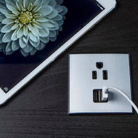 Mini Flush Mount Power Strip Adds Charging to Furniture