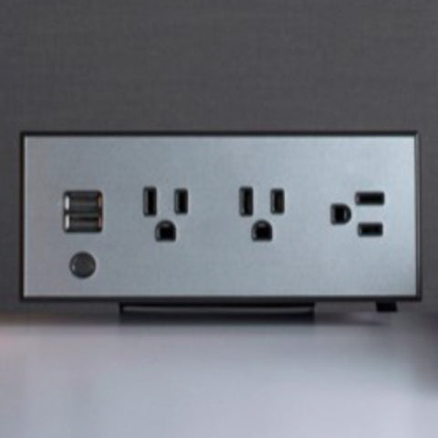 Upright Tabletop Power Cube with 3 Power Outlets and 2 USB Ports