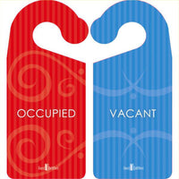 Bathroom or Bedroom Door Hanger Sign - Occupied or Vacant