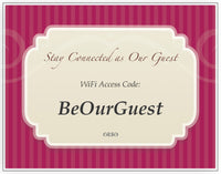 Customizable WiFi Access Code Cards