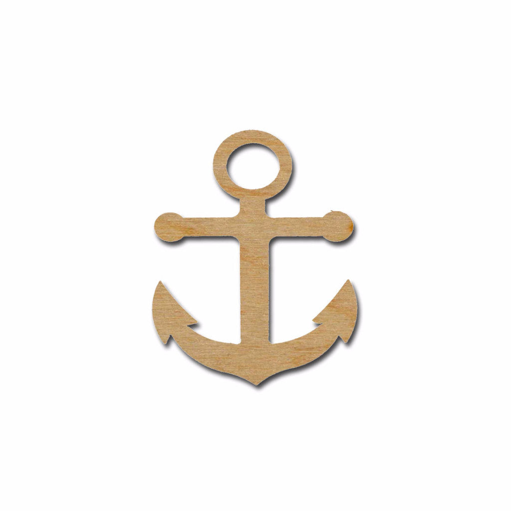 Anchor Shape Unfinished Wood Cutouts Nautical Theme Variety Of Sizes