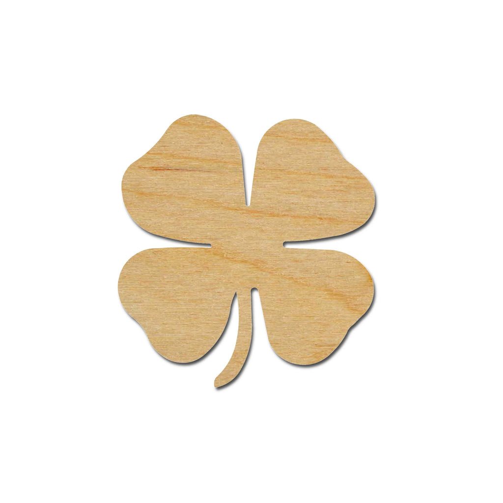 4 Leaf Clover Shamrock Shape Unfinished Wood Craft Cutouts Variety of Sizes Artistic Craft Supply