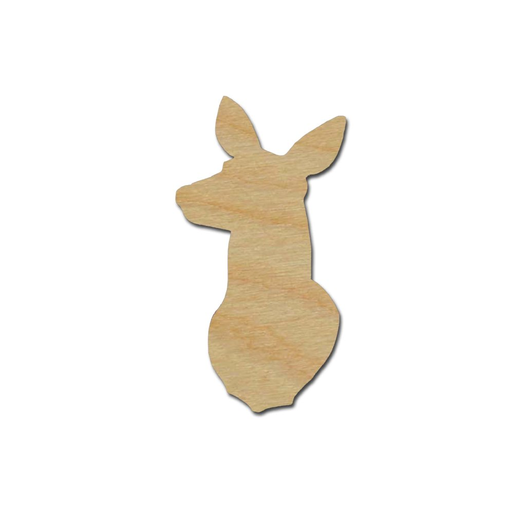 Doe Deer Shape Cutout Unfinished Wood Crafts Variety of Sizes