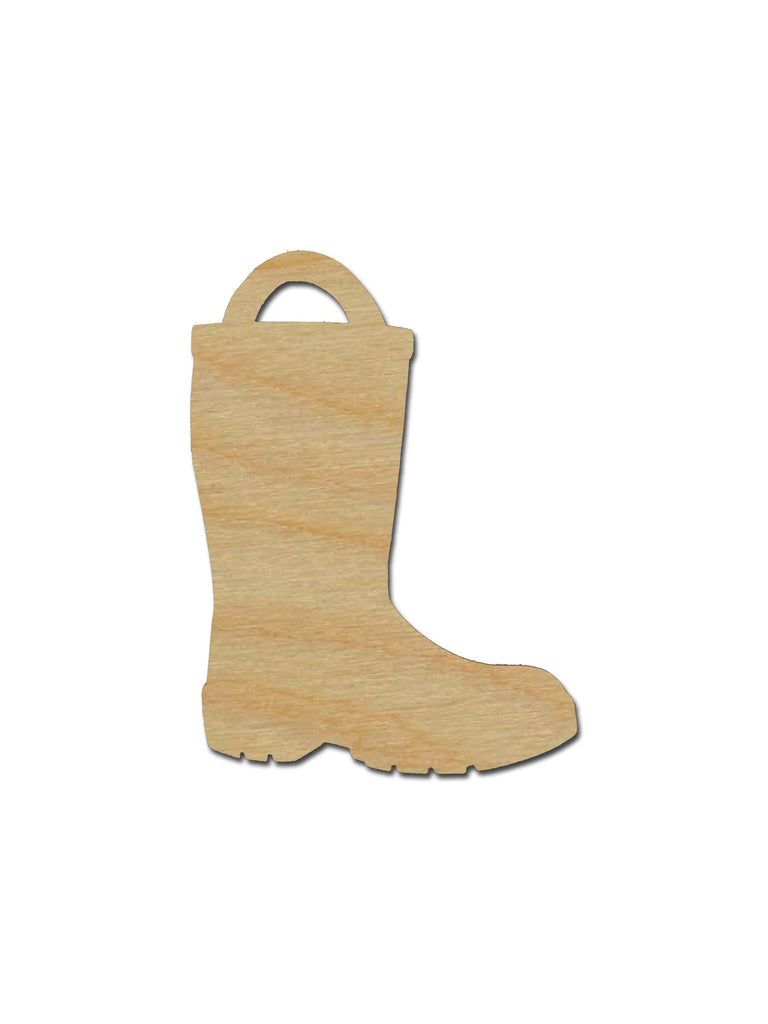 Fireman Boot Shape Unfinished Wood Cutout Variety of Sizes