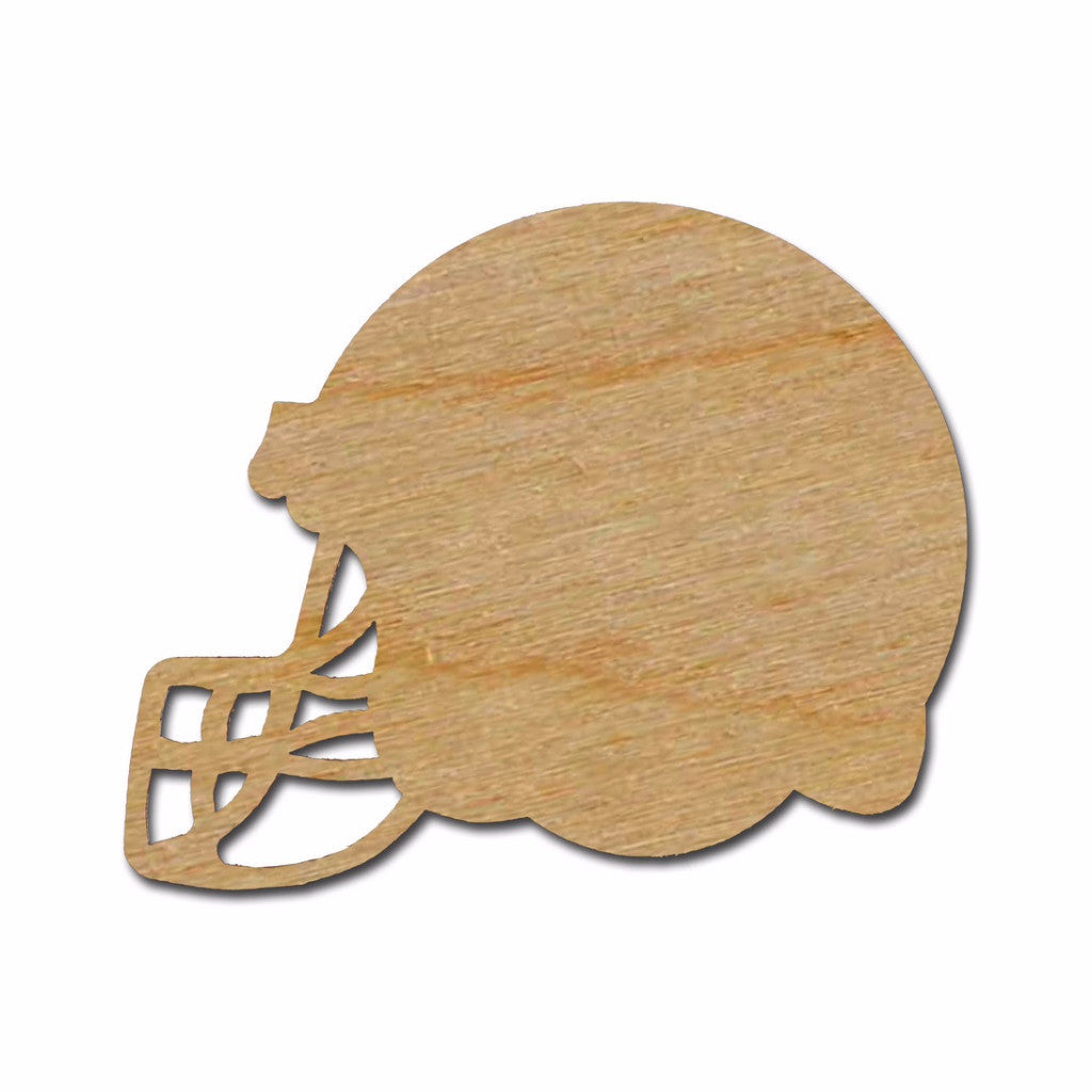 Football Helmet Shape Unfinished Wood Cutout Variety of Sizes