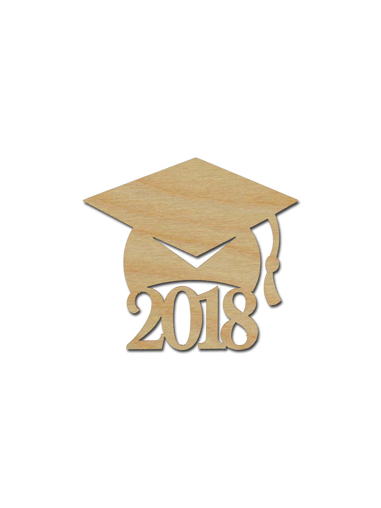 Graduation Cap 2018 Wooden Grad Hat Cutout Variety Of Sizes