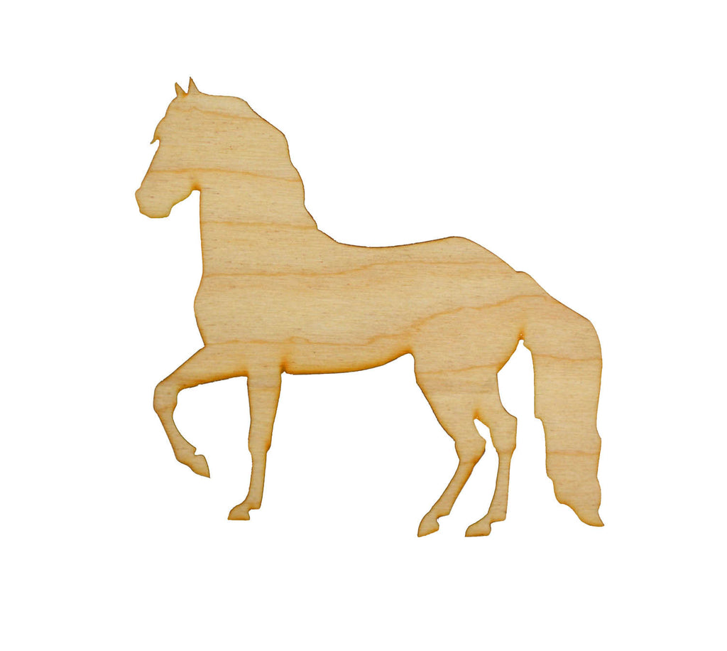 Horse Shape Unfinished Wood Animal Cutouts Variety of Sizes HRS02