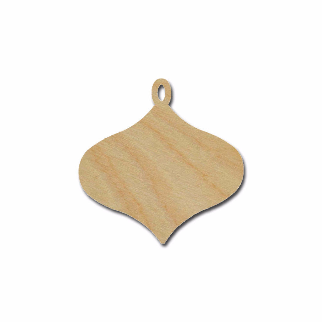 Ornament Shape Unfinished Wood Cutout Variety of Sizes ORN2