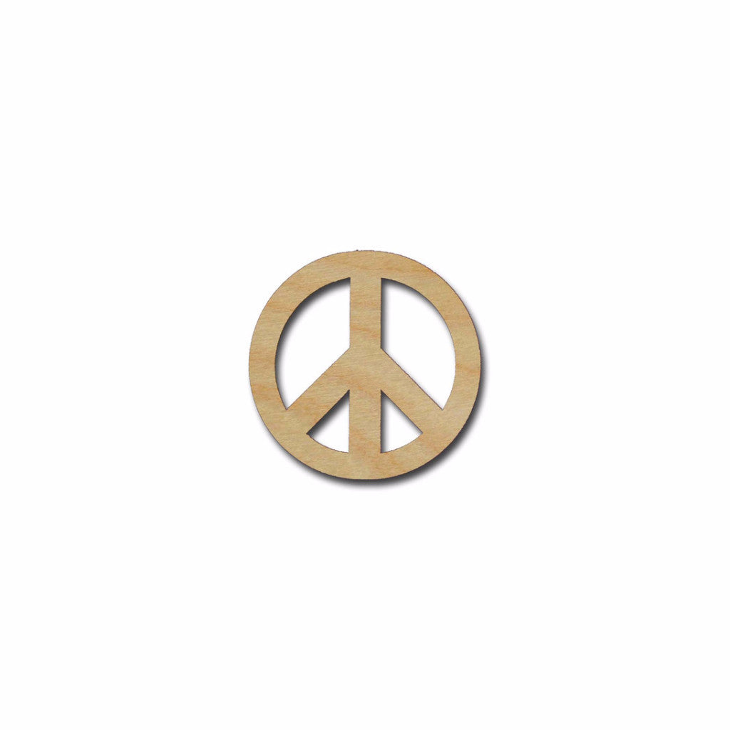Peace Symbol Shape Unfinished Wood Cutout - Artistic Craft Supply