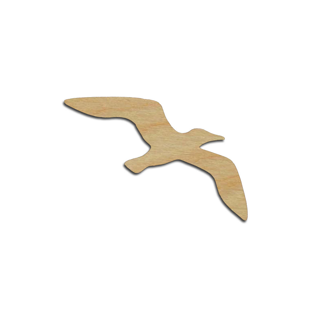 Seagull Bird Shape Wood Cutouts Unfinished DIY Crafts Variety of Sizes