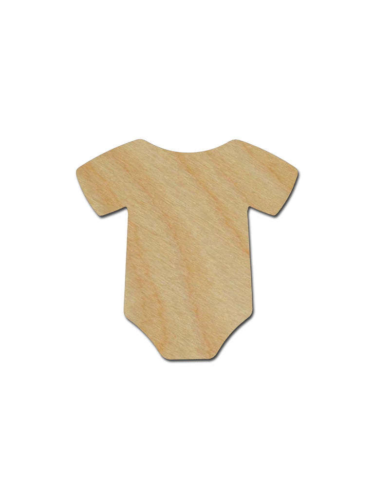 Onesie Shape Unfinished Wood Craft Cutout Variety of Sizes