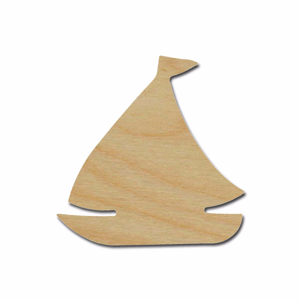 Sail Boat Unfinished Wood Cutout Nautical Theme Variety of Sizes