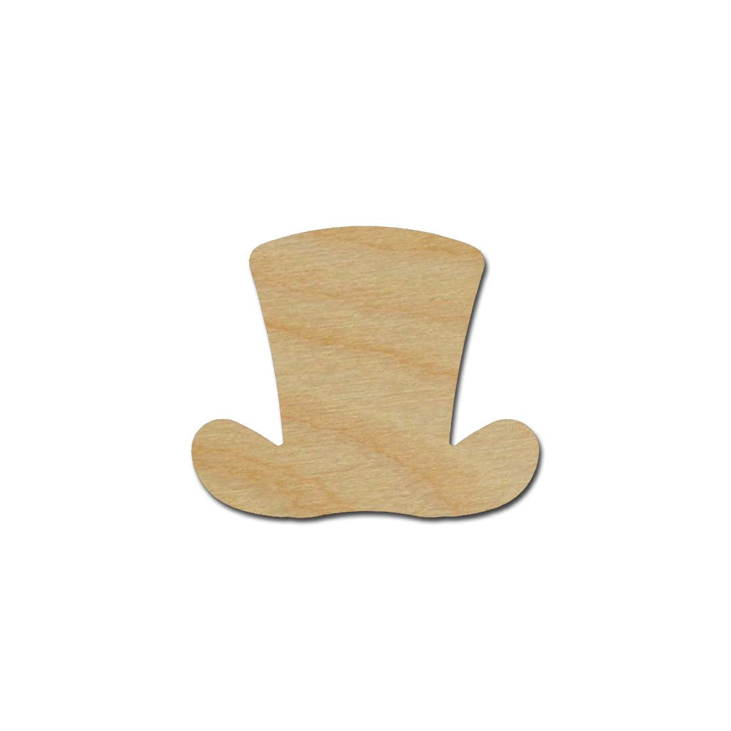 Leprechaun Top Hat Shape St Patricks Day Unfinished Wood Cutout Variety of Sizes