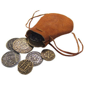 Denix - Leather bag of Pieces of Eight (Coins)