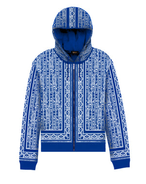 Nipsey Blue & White NebMaatRa Ceremonial Trim  Hoodie