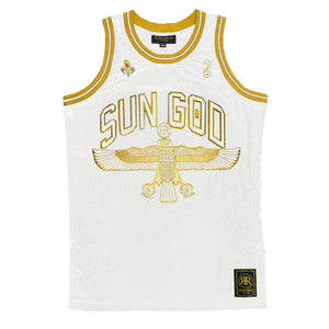 Sun God White & Gold Jersey