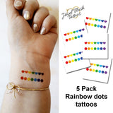 Rainbow dots tattoo for adults and kids - Jewel Flash Tattoos
