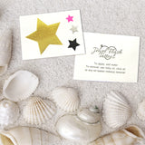 Stars tattoos for holidays: cute body stickers